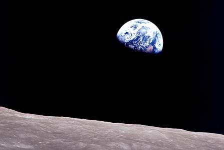 The planet Earth and the Internet as seen from the Moon