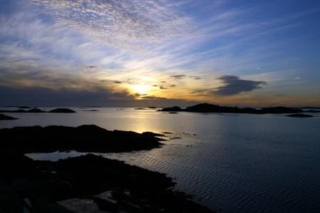 Solnedgang ved Håholmen