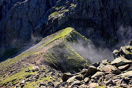 From the ascent to Scafell Pike