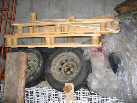 Tyres as part of the construction