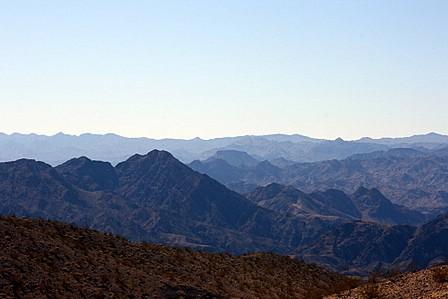 Fjella i Arizonaørkenen