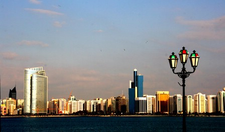 Manipulated colors, Abu Dhabi Skyline