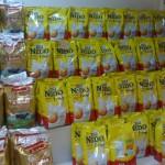 I dag slo eg meg laus og kjøpte 5 av dei gule tørrmjølkspakkane