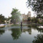 Water feature in Chowmahalla Palace gardens